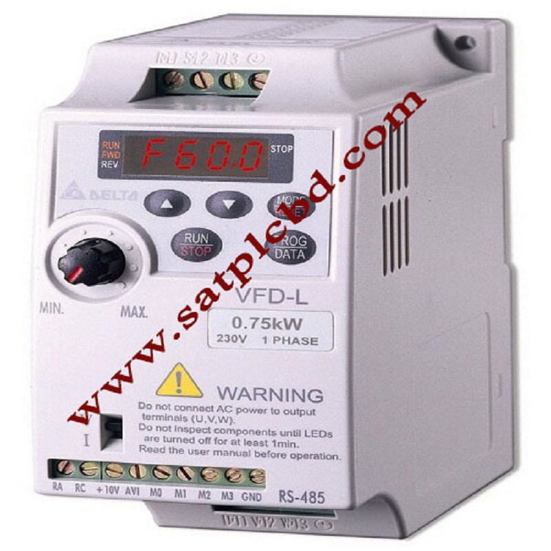 VFD007L21A VFD-L VFD Inverter Frequency converter 0.75W 1HP 1PHASE 230V 400hz