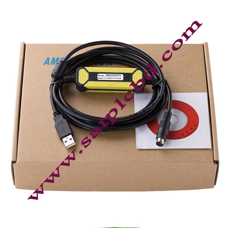 USB-SC09 Mitsubishi FX/FA Series PLC Programming Cable
