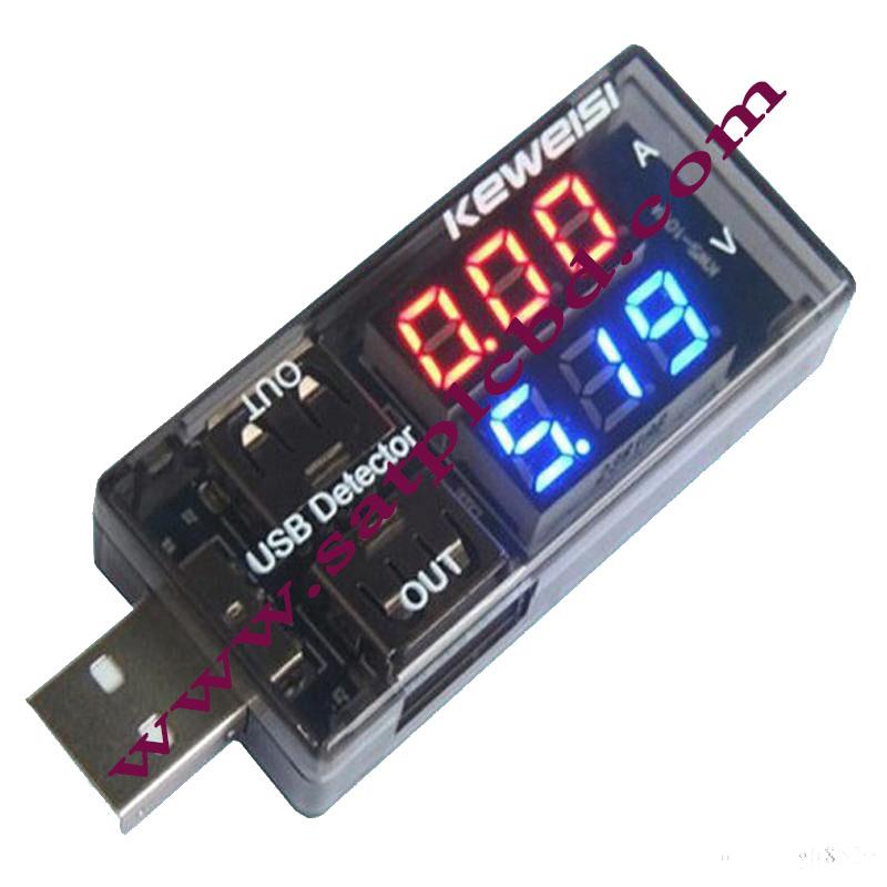 KEWEISI KWS-10VA USB TESTER[ AMMETER-VOLTMETER]